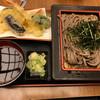 めん房 新月亭 - 料理写真:天ぷらざる蕎麦定食。