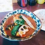 スープカレー ポニピリカ - エゾシカハンバーグカレー 税込なら1620円