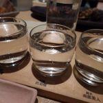 千の庭 - 日本酒飲み比べ