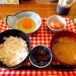 太紀家具 - 卵かけご飯(380円)