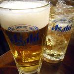 二の鉄 - 生ビールと角ハイボール