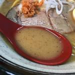 札幌鮭ラーメン麺匠 赤松 - 鮭節の効いたスープ (東武池袋店 北海道展)