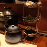 旬鮮炭火焼 獺祭 - 出汁、薬味セット