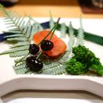 新ばし 星野 - 唐墨、黒豆、菜の花