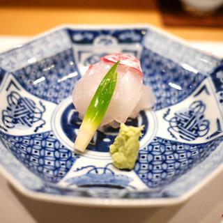 新ばし 星野 - 料理写真:鯛(淡路)の造里