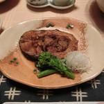 花仙庵 仙仁温泉 岩の湯 - 朝食の鯉の甘露煮