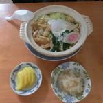 てんぐ食堂 - 鍋焼きうどん600円