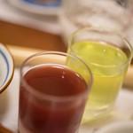 すっぽん料理 牧 - 鼈(すつぽん)生血(いきち)に膽嚢(たんなう)