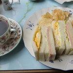 貴奈 - サンドイッチセット 1,150円(ドリンク付き)