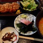 味労 - 豚汁ロースカツランチ1000円
