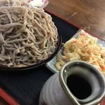 かどや - 料理写真:もり蕎麦大盛り+天麩羅