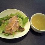 ドン・ピエトラ - ランチサラダとお代わり自由スープ