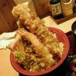 天ぷら海鮮 五福 - 海老・茄子・ちく天・・