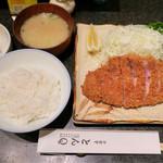 とんQ - 「ロースカツ定食」(1950円)
