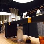 175°DENO〜担担麺〜 - 雰囲気の良いカウンター席!