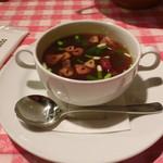 ザ カウボーイハウス - ニンニクと赤唐辛子のスープ