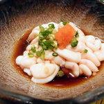 庄坊番屋 - タツ(タチとも。タラの白子)をポン酢醤油で