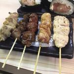 鶏介 - 串盛り五種