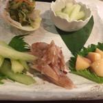 二幸 - 島野菜の漬物盛り合わせ 680円