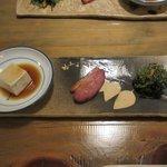 芳べえ - 前菜3点盛り2017.01.23