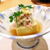 割烹 銀河 - 料理写真:▲1番最初にかにみそ豆腐。これほんのり生姜の隠し味で美味しかったです٩(ˊᗜˋ*)و✧*。
