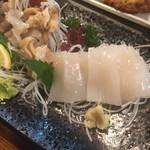 魚一心 - 料理写真:つぶ貝、イカ