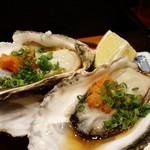 げんき鮨 - 殻付き生牡蠣