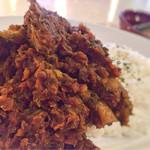 バブーシュカカリーアンドカフェ - 野菜のカレー(セロリとミンチのドライカレー)1,080円