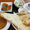 インド亭 - 料理写真:タンドリーチキンセット(キーマカレー)