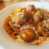 かくれん穂 - 料理写真:'17.01粗挽き牛肉団子ミートソース