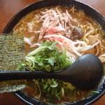 麺空海 - 魚介系極旨しょうゆラーメン大盛り700円+100円
