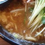 麺空海 - スープの表情