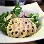 南青山野菜基地 ORIGINAL - れんこんの味噌マスタードサラダ