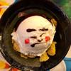 """牛久すこやか食堂 - 料理写真:"""" 稀勢の里 """" 似顔絵 アイスクリーム ヽ(〃・ω・)ノ"""