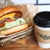 メイホクコーヒー - 料理写真:チーズバーガーとセットのコーヒー
