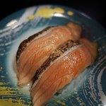 元祖寿司 - 炙りサーモン