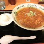 日高屋 - 温玉旨辛ラーメン 490円