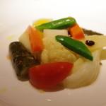 コート・ドール - 冷製季節の野菜の煮込み コリアンダー風味