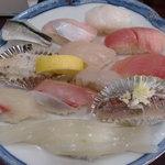 6196185 - 地魚寿司盛り合わせ。