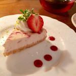 わかば堂 - 苺のチーズケーキ