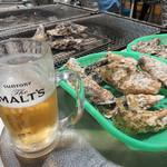 磯貝めんちゃんこのかきごや - 天神のど真ん中にある福岡ビル屋上の牡蠣小屋なので、 ランチは勿論、夜も海鮮居酒屋や炉端焼き・BBQ気分で気軽に楽しむことができます。