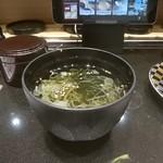 活美登利 - 料理写真:サービスの海苔汁