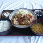 ふるさと - 荏胡麻豚生姜焼き定食