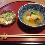 粟 - 天ぷらと炊き合わせ