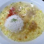 本場盛岡 じゃじゃ麺 拌 BAN - チーズじゃじゃ麺  ※ チーズ風味スープと麦ご飯投入後