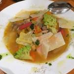Bistro-SHIN 2 - いろいろ野菜のほっこり煮〜ニース風・パルミジャーノのせ750円+税