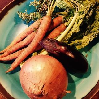 季節の自然農法野菜や有機野菜のお料理