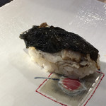 第三春美鮨 - 鮃黒皮 備長炭炙り