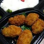生鮮食品館サノヤ - カキフライ弁当、税別250円