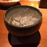 門 - 焼酎水割りはこのグラス!
